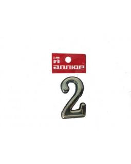 Цифра Аллюр пластиковая 2 золото