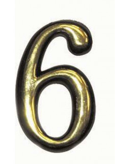 Цифра Аллюр пластиковая 6 золото