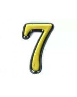 Цифра Аллюр пластиковая 7 золото