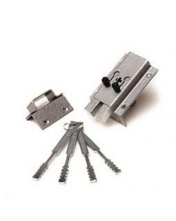 Замок накладной Делга-КОМАЗ-ОХК обратный ход ключа под один ключ