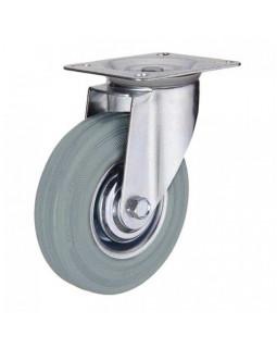 Колесо мебельное КНР 100 мм Серое поворотное