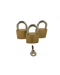 Замок Optoring Gold 32 mm под один ключ