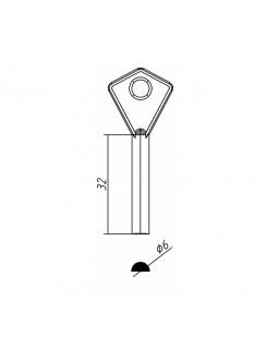 Ключ финский ЧАЗ полукруглый МС 007-02 (Заготовка)