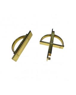 Ручка мебельная КНР нажимная потайная золото