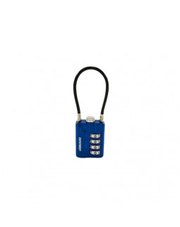 Замок кодовый с тросиком Аллюр  ВС1К-30/3 синий