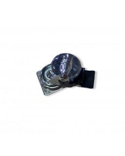 Колесо мебельное КНР 35 мм Прозрачное со стопором