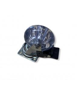 Колесо мебельное КНР 50 мм Прозрачное со стопором