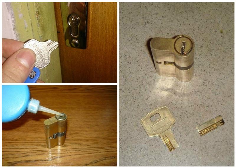 Как вытащить сломанный ключ из замка двери
